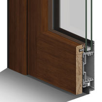 Wooden window profile / aluminum