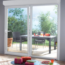 Tilt-and-slide patio door / PVC / double-glazed / thermally-insulated