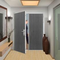 Entry door / swing / PVC / acoustic