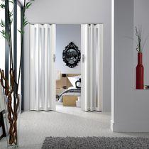 Indoor door / folding / wooden / semi-glazed