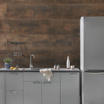 Wall-mounted paneling / PVC / textured