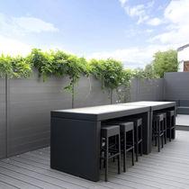 Garden fence / louvered / aluminum / modular