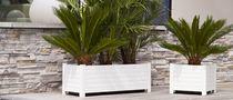 Composite planter / square / rectangular / contemporary