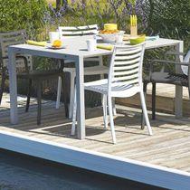 Contemporary dining table / steel / aluminum / rectangular