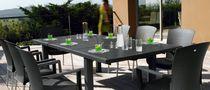 Contemporary dining table / wooden / aluminum / rectangular