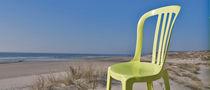 Contemporary garden chair / stackable / resin