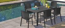 Contemporary garden chair / stackable / PVC
