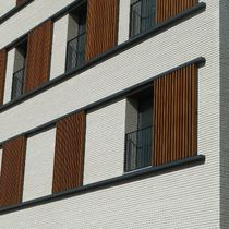 Perforated brick / for facades / white / clinker