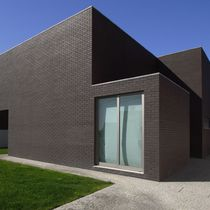 Perforated brick / for facades / black / clinker
