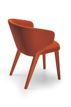 Contemporary chair / with armrests / upholstered / ash
