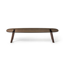 Contemporary coffee table / oak / solid wood / American walnut