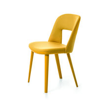 Contemporary chair / ergonomic / fabric / beech
