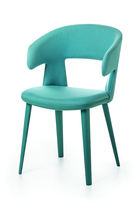 Contemporary chair / with armrests / ergonomic / fabric