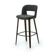 Contemporary bar chair / fabric / beech / ash