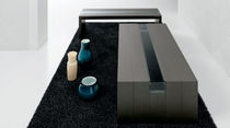 Contemporary coffee table / wooden / glass / contract