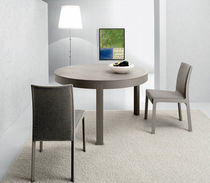 Contemporary table / oak / round / contract
