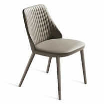 Contemporary chair / on casters / with armrests / swivel