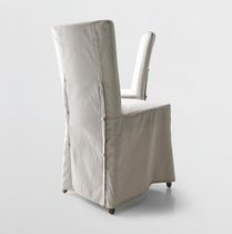 Contemporary chair / with removable cover / upholstered / fabric