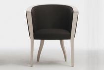Traditional armchair / wooden / bridge / contract