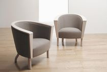 Contemporary armchair / fabric / contract