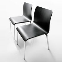 Contemporary chair / stackable / upholstered / water-resistant fabric