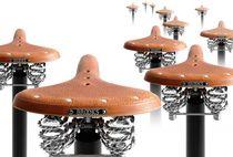 Original design bar stool / leather / metal / contract