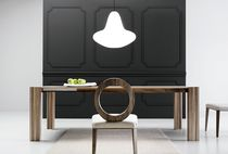 Contemporary table / oak / walnut / rectangular