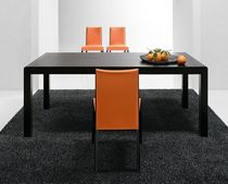 Contemporary table / oak / lacquered wood / stained wood