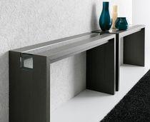 Contemporary sideboard table / glass / oak / American walnut