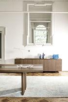 Contemporary sideboard / oak / American walnut