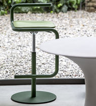 Contemporary bar stool / metal / wooden / contract