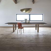 Contemporary table / wooden / rectangular / extending