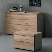 Bedside table / contemporary / oak / rectangular