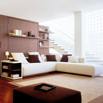 Corner sofa / bed / contemporary / fabric