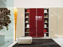 Contemporary bookcase / wooden / lacquered wood