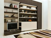 Wall bed / double / contemporary / wooden