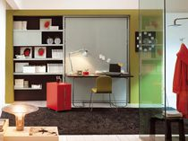 Contemporary desk / laminate / with Murphy bed