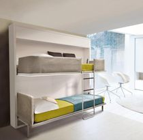 Bunk bed / wall / single / contemporary