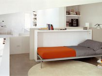 Single bed / wall / contemporary / wood
