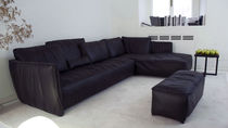 Corner sofa / modular / contemporary / leather