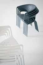 Contemporary chair / with armrests / metal / by Marc Sadler
