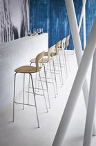Contemporary bar chair / stackable / metal