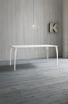 Contemporary table / metal / rectangular