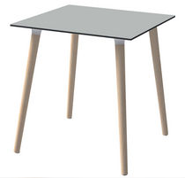 Contemporary table / beech / rectangular