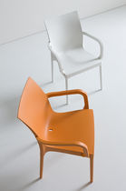 Contemporary chair / with armrests / polymer