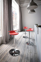 Contemporary bar stool / adjustable