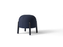 Contemporary stool / wooden / fabric / commercial
