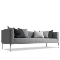 Contemporary sofa / stainless steel / fabric / commercial