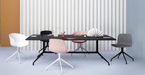 Contemporary conference table / plywood / aluminum / rectangular