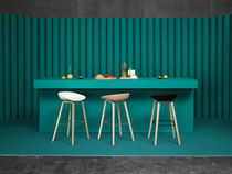 Contemporary bar stool / wooden